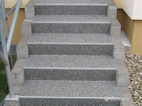 aussentreppe sanieren steinteppich marmorix 174 steinteppich verlegebeispiele treppen