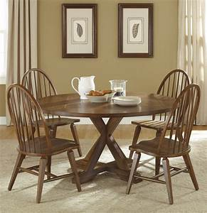 Round Dining Room Sets With Leaf