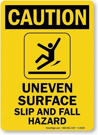 Uneven Caution Surface Sign Radioactive Hazard Slip