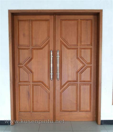 model pintu daun kayu minimalis puertas   main