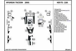 Dl Auto U00ae Hyundai Tucson 2005 Dash Kits