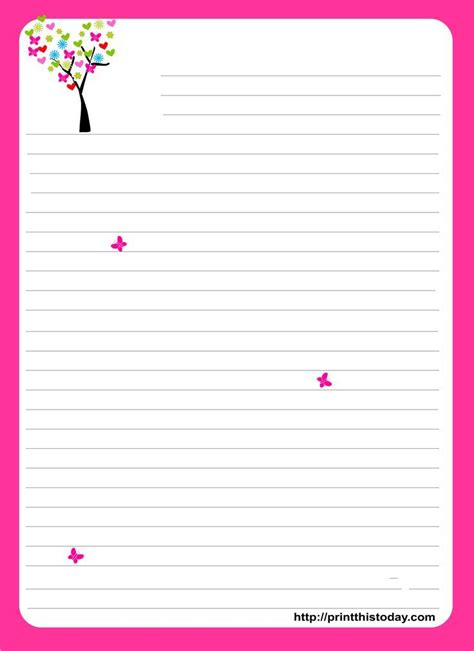 adorable  printable writing paper