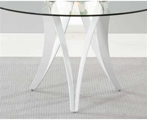 high glass dining table berlin 130cm glass and white high gloss round dining table