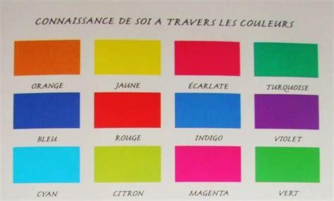 couleur en soi exercice pratique connaissance de soi par les couleurs