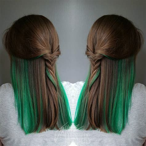 Brown Hair With Yellow Highlights by 20 Ways To Rock Green Hair