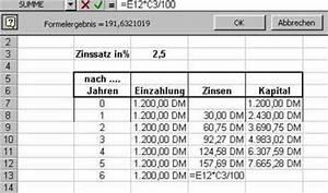 Zinsen Berechnen Tage Formel : tabelle zinseszinsen bei einem blichen sparbuch ~ Themetempest.com Abrechnung