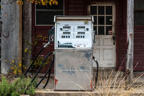 Old Gas Pumps Gas Station