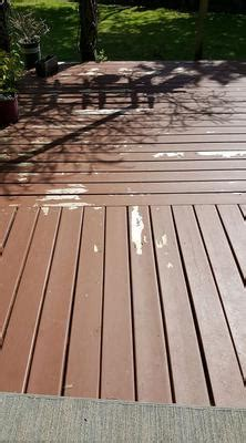 problems  acrylic deck stain peeling  decking boards