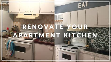 Apartment Kitchen Makeover On A Budget!  Diy  Youtube