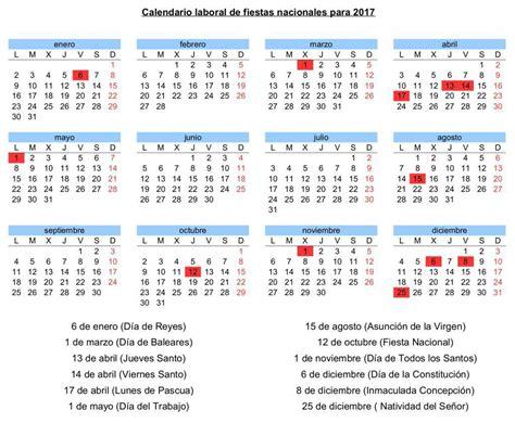 el calendario laboral contara dias festivos nueve