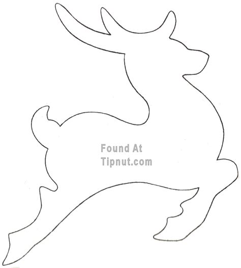 Reindeer Template Printable by Printable Reindeer Cut Out Patterns