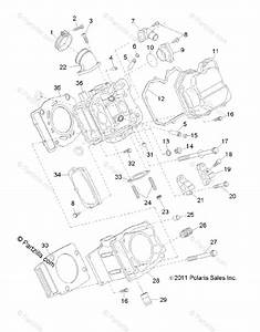 Polaris Atv 2012 Oem Parts Diagram For Engine  Cylinder
