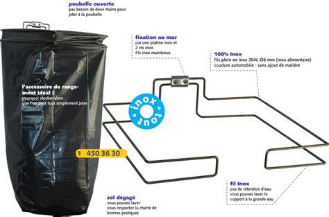 support sac poubelle cuisine support sac poubelle inox pour sac de 110l