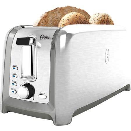 toasters at walmart oster designed for 4 slice toaster brushed stainless tssttrdfl1 walmart
