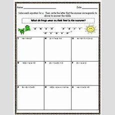Solving Multistep Equation By Math Rocks! Teachers