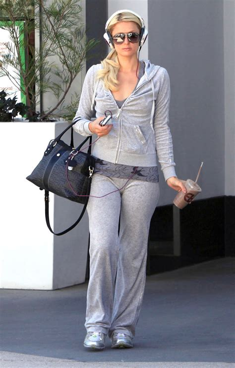paris hilton leaving equinox gym  west hollywood  fabzz