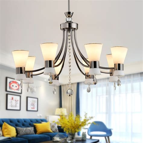 chandelier l shades canada 8 light black iron modern chandelier with glass shades