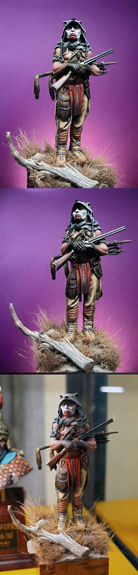 plains warrior mm native american models military