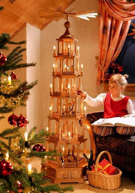 christmas pyramid nativity  storey electrically