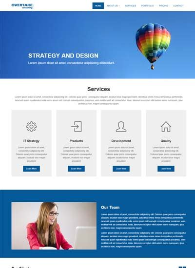 Web Page Templates Best Corporate Business Website Templates Free