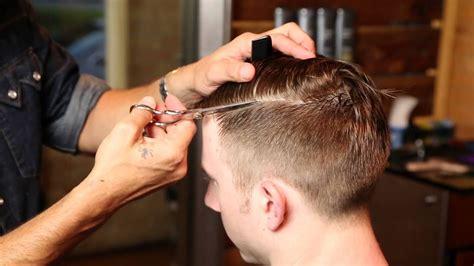 barbering haircut techniques  sharp mens hair
