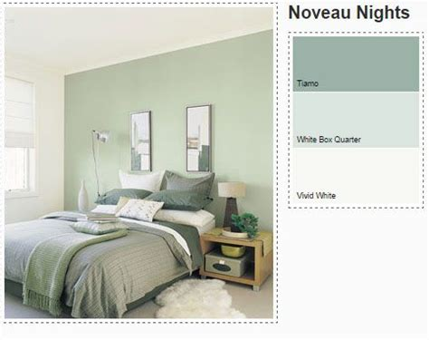 dulux bedroom in green paints pallets