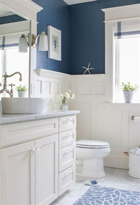 5 navy white bathrooms the inspired room
