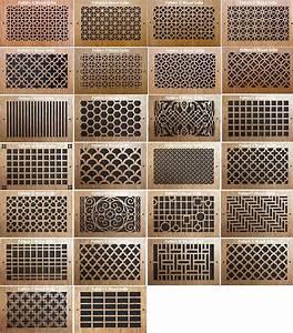 Grille Metal Decorative : wood wall registers decorative vent ~ Melissatoandfro.com Idées de Décoration