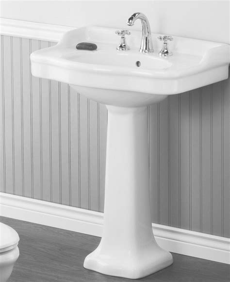 22 wide pedestal sink 10 easy pieces traditional pedestal sinks remodelista