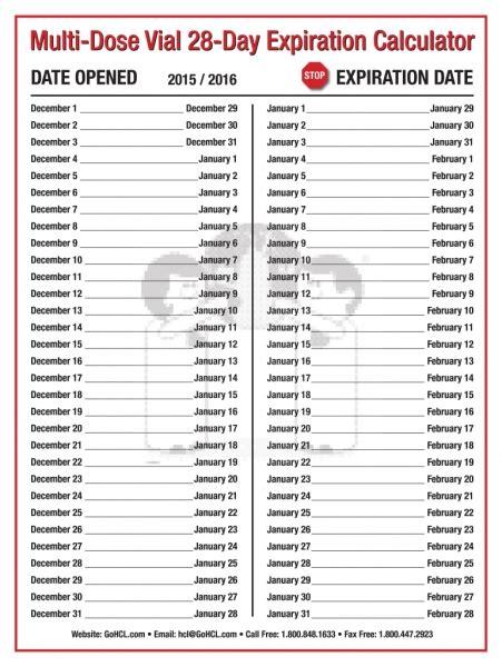 day medication expiration printable calendar template