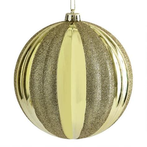 large gold ribbed shatterproof ornament christmas tree