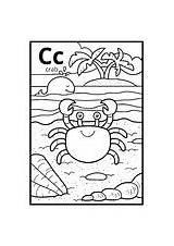 Crab Coloring Letter Alphabet Colorless Illustration Children Dreamstime Duck Illustrations Vectors Tarsier sketch template