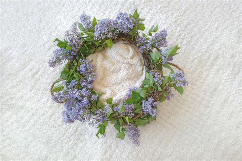 newborn digital backdrop vintage basket  fresh lilac