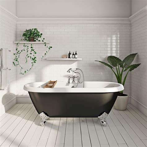 Bathroom Ideas Roll Top Bath by Shakespeare Black Roll Top Bath With