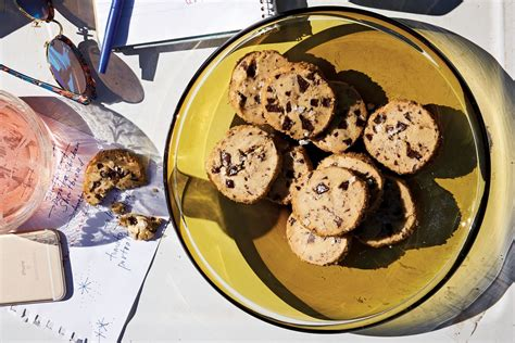 recipe salted chocolate chip shortbread cookies eater