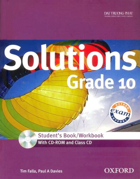 Solutions Grade 10  Student's Bookworkbook (  Rom And