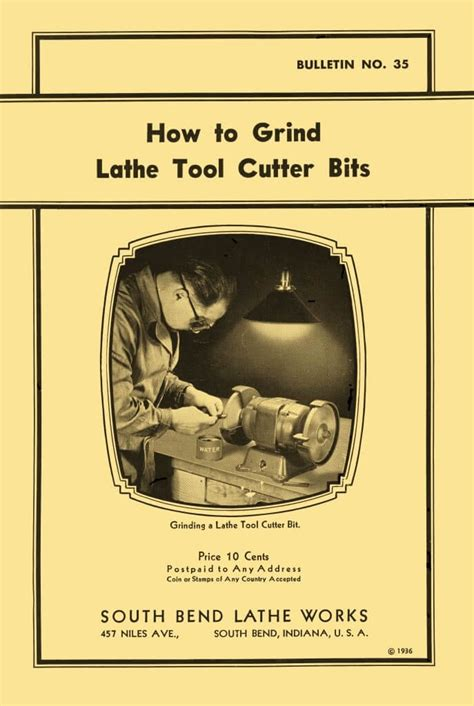 south bend   grind lathe tool cutter bits manual
