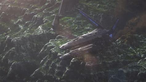 hyperion crash site hd wallpaper background image