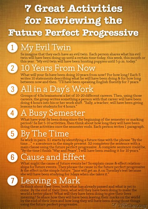great activities  review  future perfect