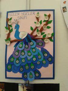 peacock bulletin board idea  kids  crafts