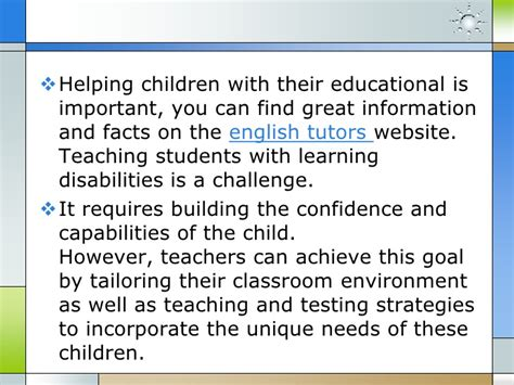 teaching students  learning disabilities