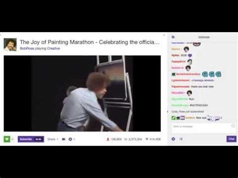 Bob Ross Final Episode On Twitch With Chat + Bob Ross Song
