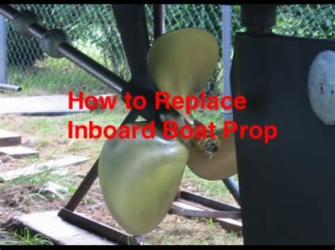 How To Remove A Boat Propeller by How To Remove An Inboard Propeller Doovi