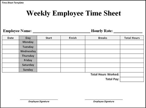 time sheet template search business