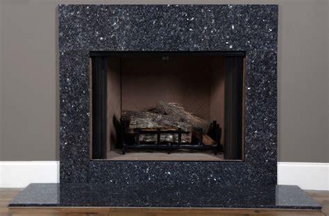 blue pearl granite fireplace surround facing