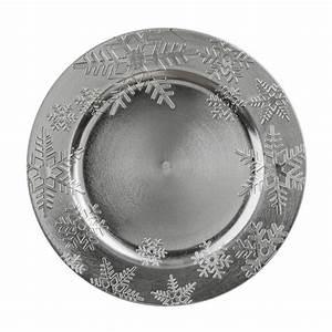 Lot D Assiette : lot de 12 dessous d 39 assiette flocon argent d coration pour la table eminza ~ Teatrodelosmanantiales.com Idées de Décoration