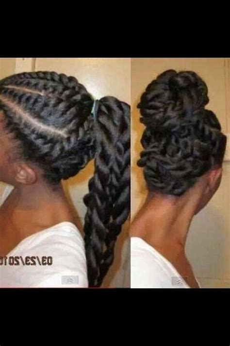 Flat Twist Ponytail Hairstyles by Flat Twists Ponytail Up Hair Style For Flat Iron