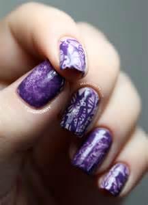 Purple Camouflage Nails Design