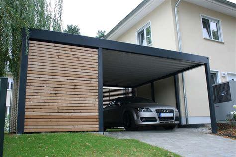 Holz Carport Garage by Design Metall Carport Aus Holz Stahl Mit Ger 228 Teraum