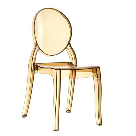 chaises de style chaise de style en polycarbonate transparent elizabeth
